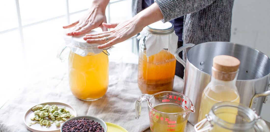 Kombucha making process